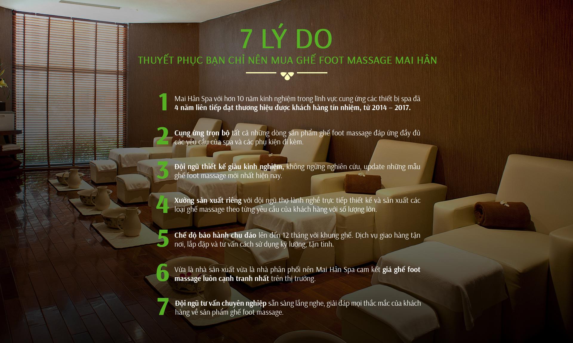 thuyết phục bạn chỉ nên mua ghế foot massage mai Hân