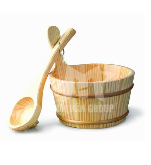Bộ xô gáo gỗ múc nước